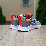Мужские кроссовки Nike ZOOM AIR (серо-оранжевые) 10141, фото 2