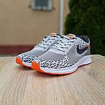 Мужские кроссовки Nike ZOOM AIR (серо-оранжевые) 10141, фото 3
