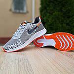 Мужские кроссовки Nike ZOOM AIR (серо-оранжевые) 10141, фото 4