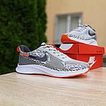 Мужские кроссовки Nike ZOOM AIR (серо-оранжевые) 10141, фото 5