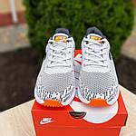 Мужские кроссовки Nike ZOOM AIR (серо-оранжевые) 10141, фото 6