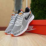 Мужские кроссовки Nike ZOOM AIR (серо-оранжевые) 10141, фото 8