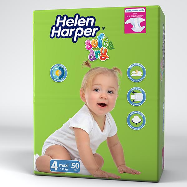 Підгузки Helen Harper Soft & Dry 4 (7-18кг), 50шт