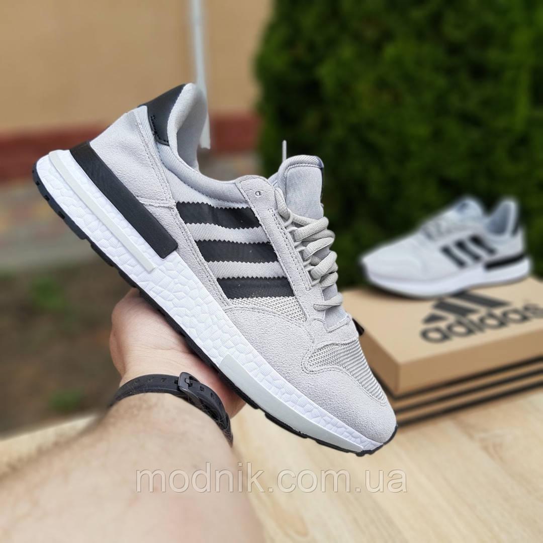 Мужские кроссовки Adidas ZX 500 (серые) 10147