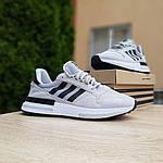 Мужские кроссовки Adidas ZX 500 (серые) 10147, фото 9