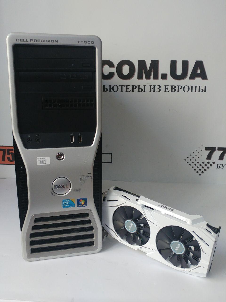 Игровой компьютер Dell WS T5500, Intel Xeon E5620 2.66GHz, RAM 16ГБ, SSD 120GB, HDD 500ГБ, GTX 1060 6GB