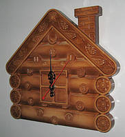 Часы настенные  (сувенир из дерева «Теремок»)