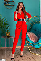Красивый деловой женский брючный костюм с пиджаком арт 196