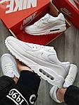 Мужские кроссовки Nike Air Max 90 (белые) 402PL, фото 4