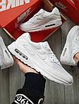 Мужские кроссовки Nike Air Max 90 (белые) 402PL, фото 6