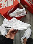 Мужские кроссовки Nike Air Max 90 (белые) 402PL, фото 7