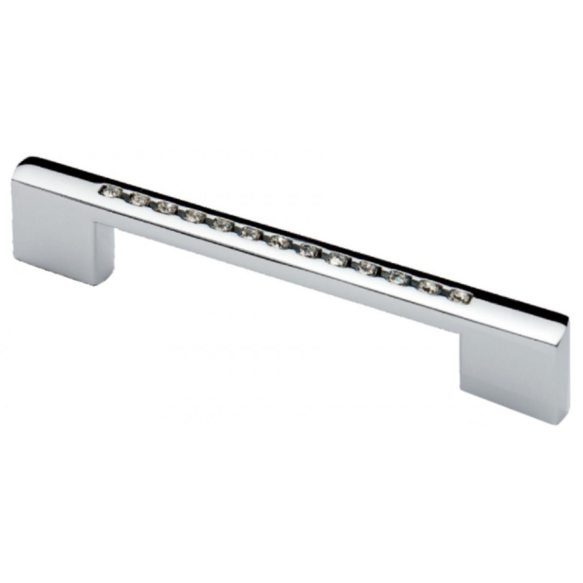 Ручка меблева Ozkardesler BERGAMA 5217-06 96-128мм з камінням Хром