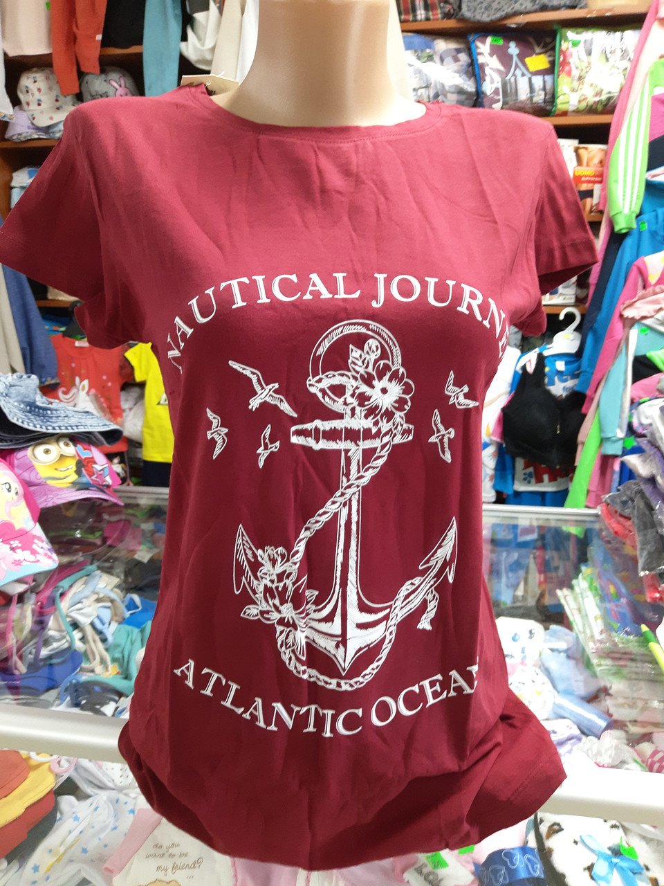 Летняя женская хлопковая футболка р. 46 48 50