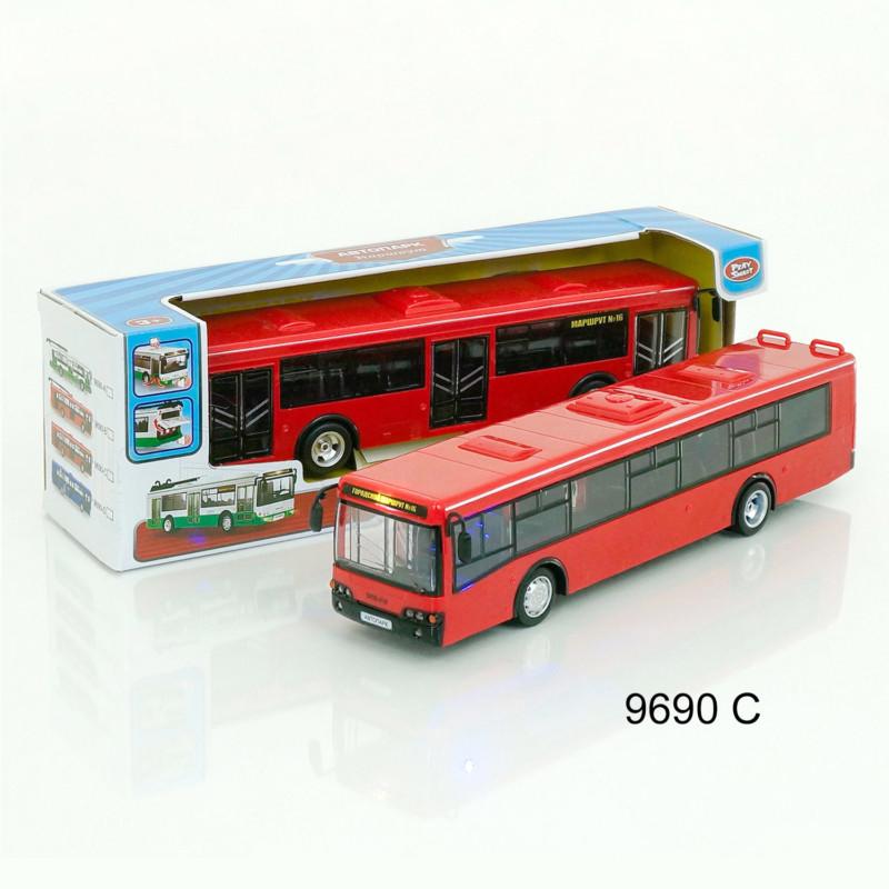 """Автобус инерционный 9690C (Красный) """"АВТОПРОМ"""""""