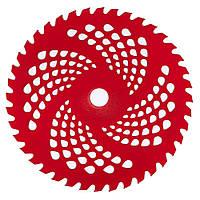 Нож к мотокосе 40 зуб. (нерж. сталь) в уп. Красный, с гальваническим покрытием, 225x25.4 мм (87430)