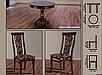 Кухонный комплект -Эдельвейс. Стол раздвижной, 4 стула. Цвет - орех., фото 2