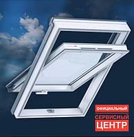 Мансардное окно ПВХ VELUX GLP 0073B. Ручка снизу