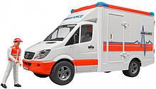 Bruder Игрушка машинка МВ Sprinter скорая помощь + фигурка водителя, 02536
