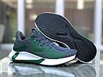 Мужские кроссовки Adidas (зелено-серые с белым) 9346, фото 2