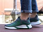 Мужские кроссовки Adidas (зелено-серые с белым) 9346, фото 5