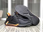 Мужские кроссовки Adidas (черно-оранжевые) 9348, фото 2
