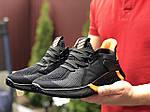 Мужские кроссовки Adidas (черно-оранжевые) 9348, фото 3