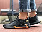 Мужские кроссовки Adidas (черно-оранжевые) 9348, фото 5