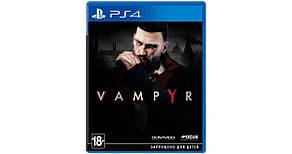 Диск с игрой Vampyr (PS4, русские субтитры)