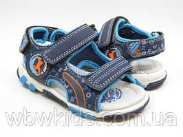 Босоніжки Clibee сині Z520 для хлопчика 21 розмір
