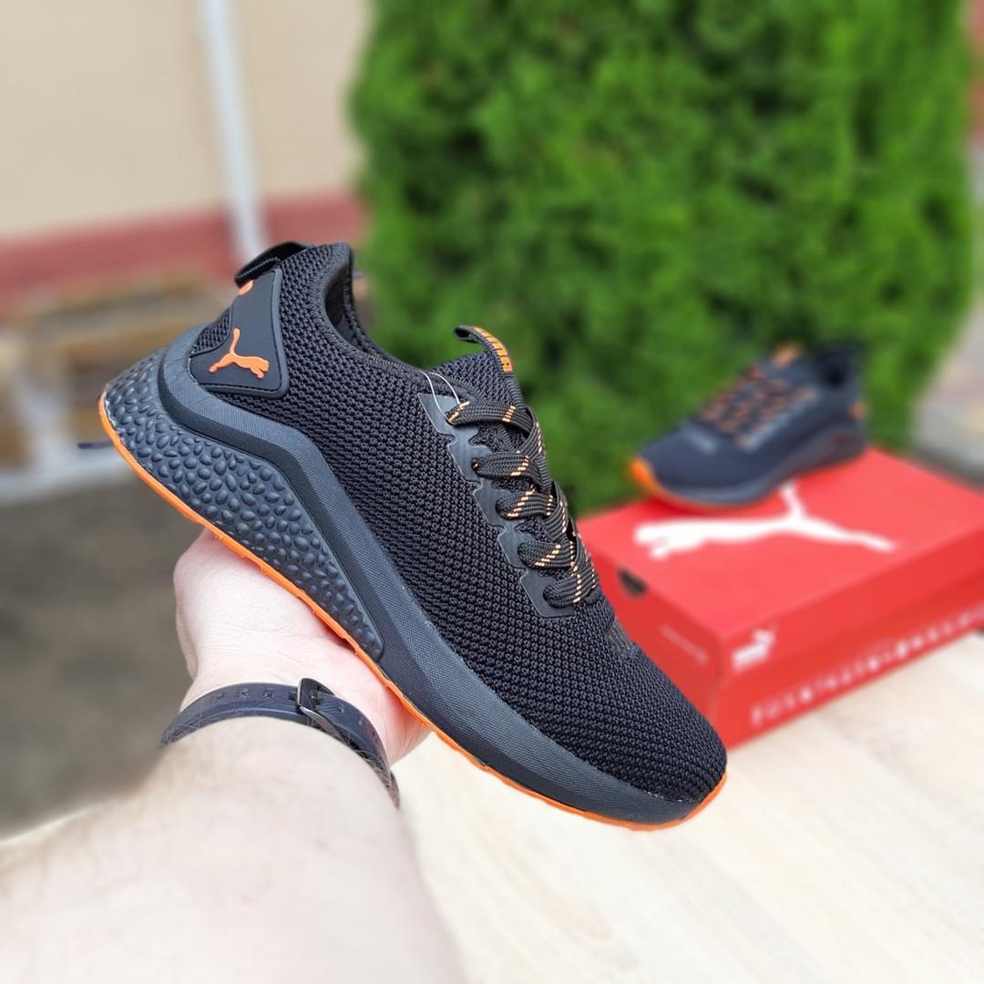 Жіночі літні кросівки Puma (чорно-помаранчеві) 20114