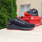 Жіночі літні кросівки Puma (чорно-помаранчеві) 20114, фото 3