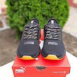 Жіночі літні кросівки Puma (чорно-помаранчеві) 20114, фото 8