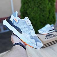 Мужские кроссовки Adidas Nite Jogger (светло-серые) 10157