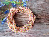 Полый шнур в блестках, цвет ПЕРСИКОВЫЙ, 1 м, фото 1