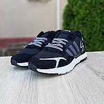 Чоловічі кросівки Adidas Nite Jogger (чорно-білі) 10160, фото 3