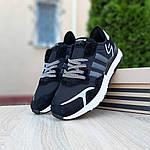 Чоловічі кросівки Adidas Nite Jogger (чорно-білі) 10160, фото 6