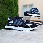 Чоловічі кросівки Adidas Nite Jogger (чорно-білі) 10160, фото 7