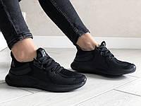 Женские кроссовки Adidas (черные) 9357