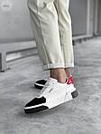 Женские кожаные кроссовки Puma Cali (бело-черные) 407GL, фото 2