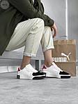 Женские кожаные кроссовки Puma Cali (бело-черные) 407GL, фото 3
