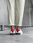 Женские кожаные кроссовки Puma Cali (бело-черные) 407GL, фото 4