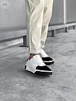 Женские кожаные кроссовки Puma Cali (бело-черные) 407GL, фото 5