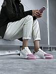 Женские кожаные кроссовки Puma Cali (бело-розовые) 408GL, фото 5