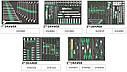 Тележка с набором инструментов для СТО TOPTUL (Pro-Plus) 7 секций 261ед. cерая GE-26109, фото 2