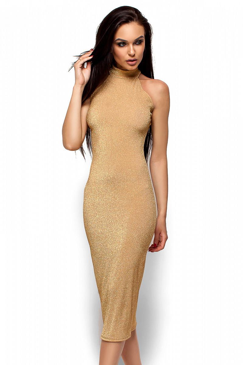 S | Вечірнє жіноче плаття Stoun, золото