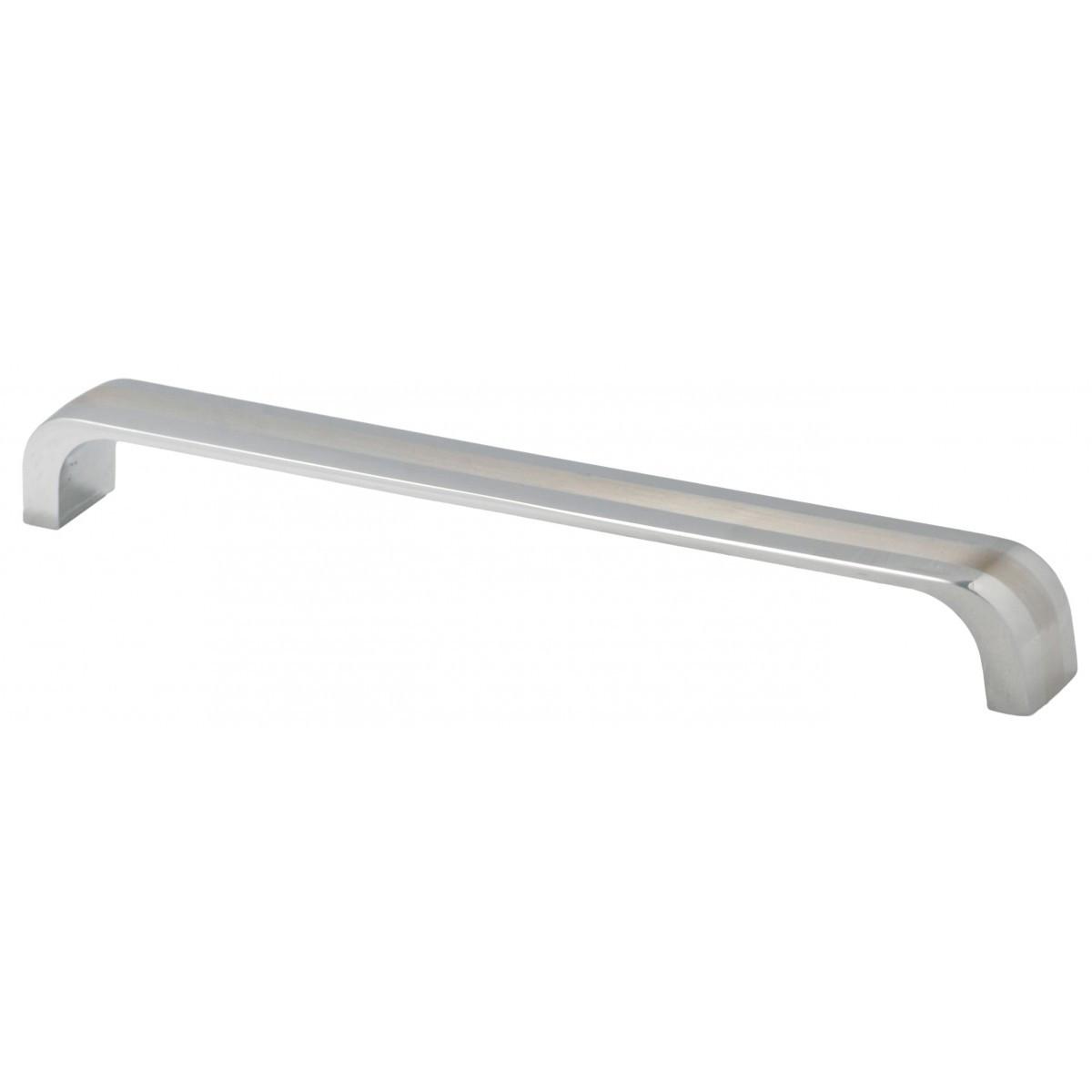 Ручка меблева Ozkardesler 5221-06/022 DOLUNAY 192мм Хром-Сталь-Хром