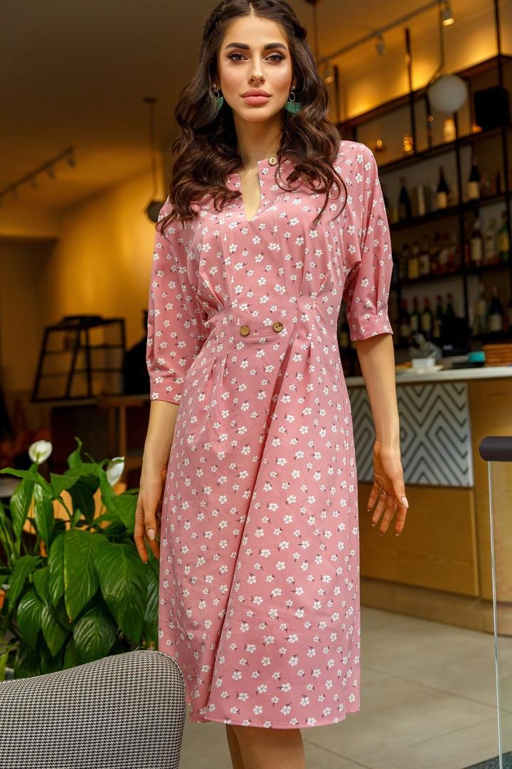 Стильное женское платье с 42 по 46 рр софт