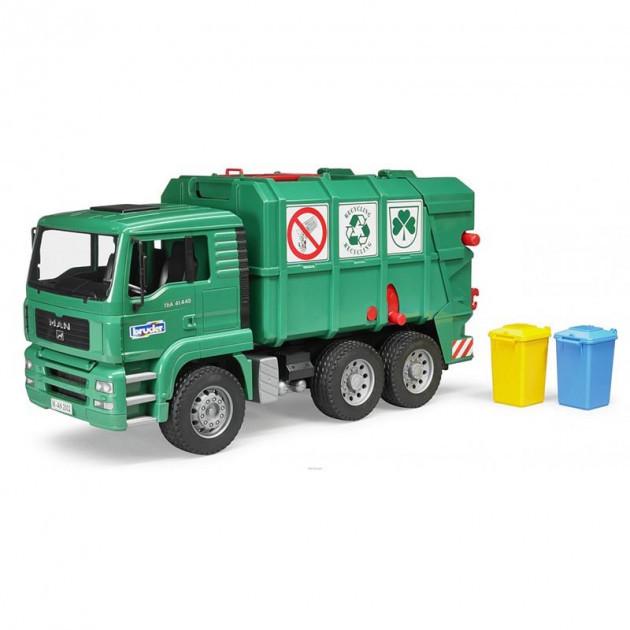 Bruder Игрушка машинка мусоровоз MАN TGA, зелёный, 02753