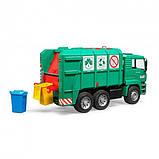Bruder Игрушка машинка мусоровоз MАN TGA, зелёный, 02753, фото 3