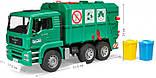 Bruder Игрушка машинка мусоровоз MАN TGA, зелёный, 02753, фото 2